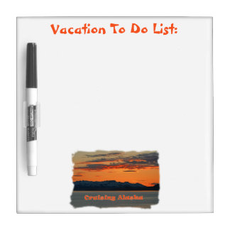 Cruising Alaska /Vivid Orange Sunset Dry-Erase Board
