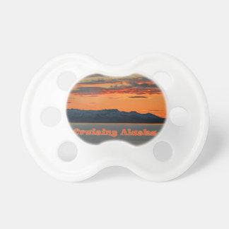 Cruising Alaska / Vivid Orange Sunset Pacifier