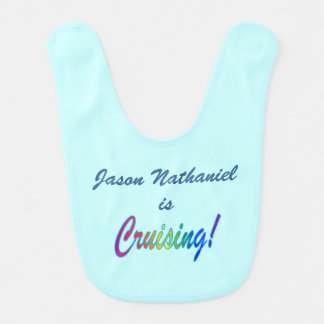 Cruising Aqua Personalized Bib