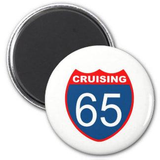 Cruising at 65 2 inch round magnet