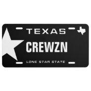 Cruising Black Texas License Plate at Zazzle