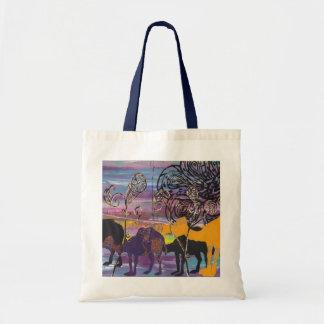 Cruising Camel Train Tote Bag