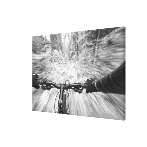 Cruising down a buff section of singletrack 2 canvas print