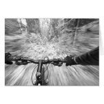 Cruising down a buff section of singletrack 2 greeting card