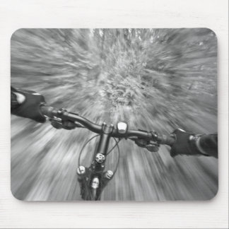 Cruising down a buff section of singletrack mouse pad