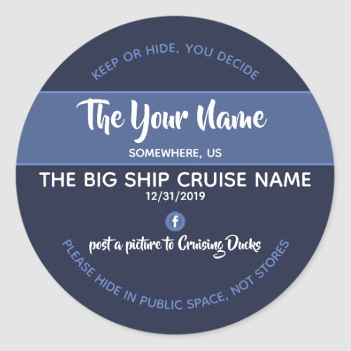 Cruising Ducks Personalized Stickers