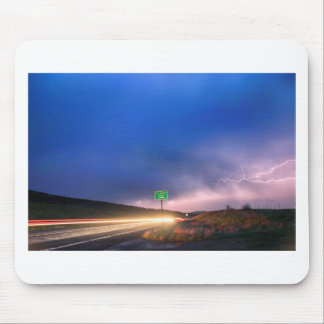 Cruising Highway 36 Into the Storm Mouse Pad