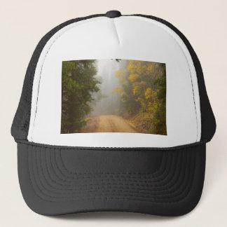 Cruising Into Autumn Fog Trucker Hat