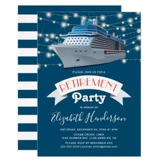 Cruising into Retirement Party | Ocean Liner Invitation