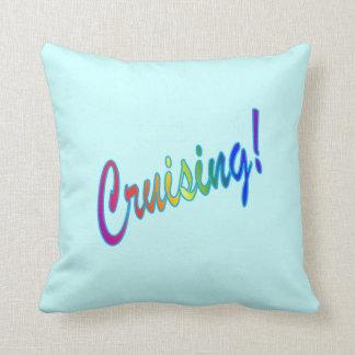 Cruising Multicolor Throw Pillow