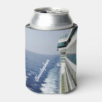 Cruising on Balcony Row Personalized Can Cooler
