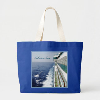 Cruising on Balcony Row Personalized Large Tote Bag