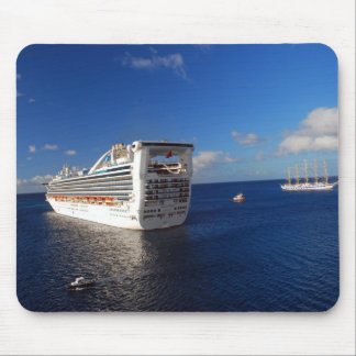 Cruising on the high seas mouse pad