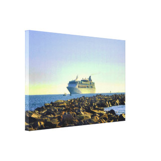 Cruising Past the Jetties Canvas Print
