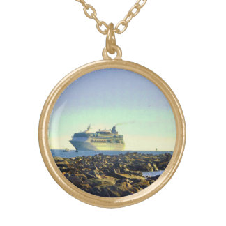 Cruising Past the Jetties Gold Plated Necklace