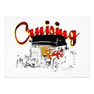 Cruising Roadster Personalized Invitations