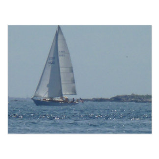 Cruising Sailboat 2 Post Cards