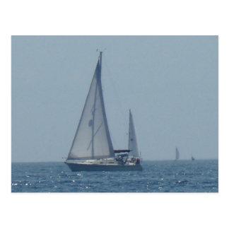 Cruising Sailboat 3 Postcard