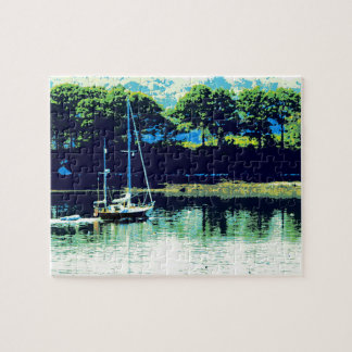 cruising sailboat jigsaw puzzle