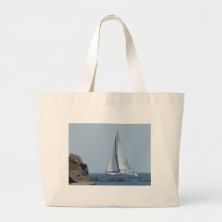 Cruising Sailboat Jumbo Tote Bag