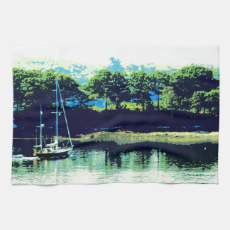 cruising sailboat kitchen towel