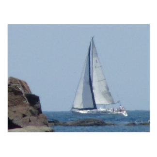 Cruising Sailboat Post Cards