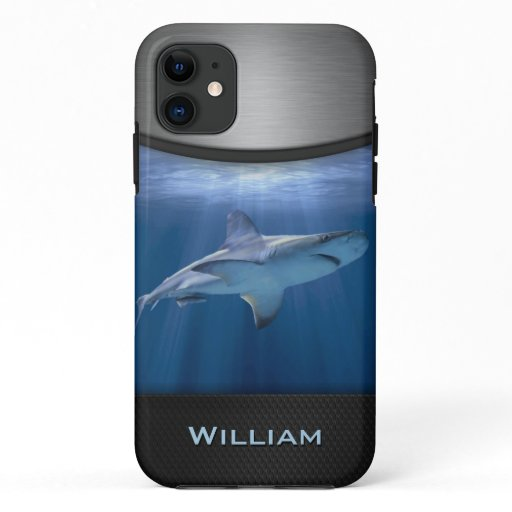 Cruising Shark with name iPhone 11 Case
