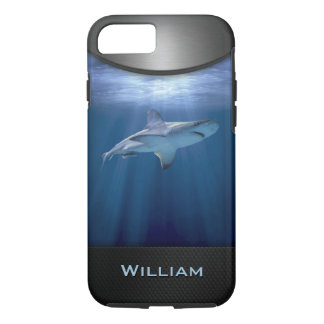 Cruising Shark with name iPhone 7 Case