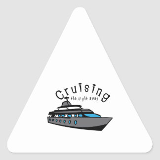 Cruising The Night Away Triangle Stickers