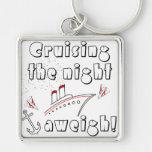 Cruising the Night Aweigh Key Chain