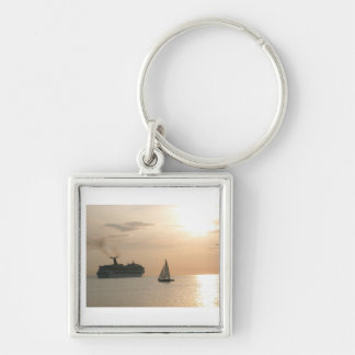 CRUISING THE SEA IN MONTEGO BAY JAMAICA KEYCHAIN