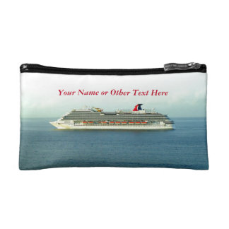 Cruising the Tropics Personalize with Name or Text Cosmetic Bag