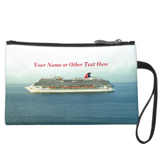 Cruising the Tropics Personalized Cruise Travel Suede Wristlet