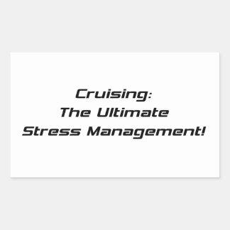 Cruising The Ultimate Stress Management Rectangular Sticker