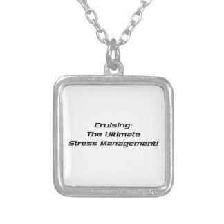 Cruising The Ultimate Stress Management Square Pendant Necklace