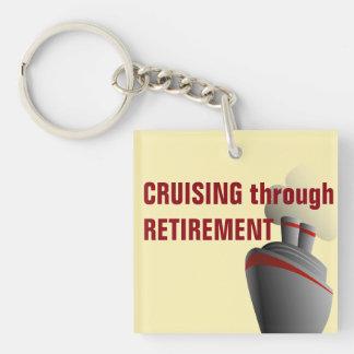 Cruising Through Retirement Keychain