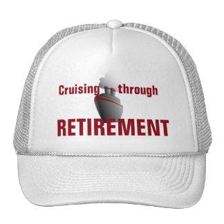 Cruising Through Retirement Red Trucker Hat