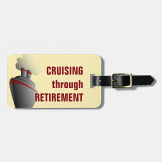 Cruising Through Retirement Yellow Personalized Luggage Tag
