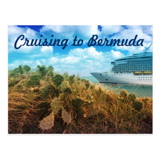 Cruising to Bermuda Post Card