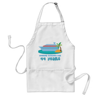 Cruising Together For 44 Years Anniversary Gift Adult Apron
