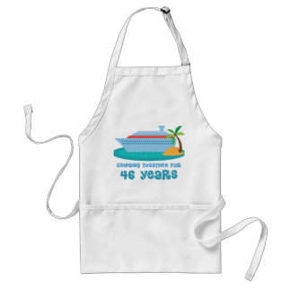 Cruising Together For 46 Years Anniversary Gift Adult Apron