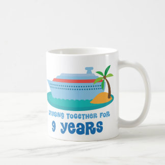 Cruising Together For 9 Years Anniversary Gift Coffee Mug