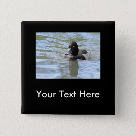 Cruising Tufted Duck Pinback Button