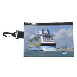 Cruising West Sailing East Channel Scene Accessory Bag