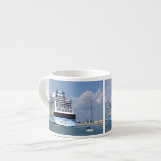 Cruising West Sailing East Espresso Cup