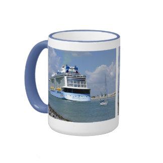 Cruising West Sailing East Ringer Mug
