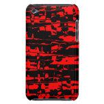 Crujido abstracto rojo iPod Case-Mate cárcasas