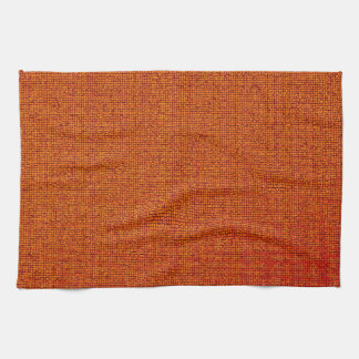 Crujido anaranjado toalla de cocina