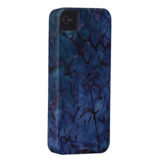 Crujido azul marino Case-Mate iPhone 4 protectores