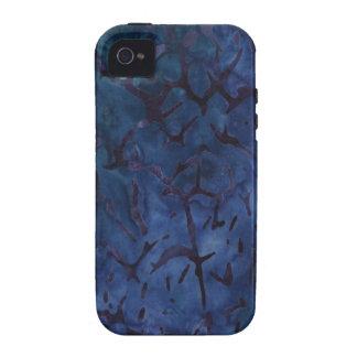 Crujido azul marino vibe iPhone 4 fundas
